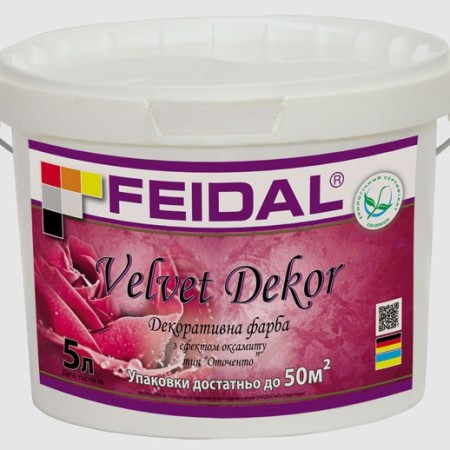 Feidal Velvet Dekor декоративная краска тип «Оточенто» 5лFeidal Velvet Dekor декоративная краска тип «Оточенто» 5л