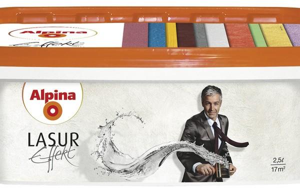 Alpina Effekt Lasur Silber декоративная перламутровая лазурь 2,5л