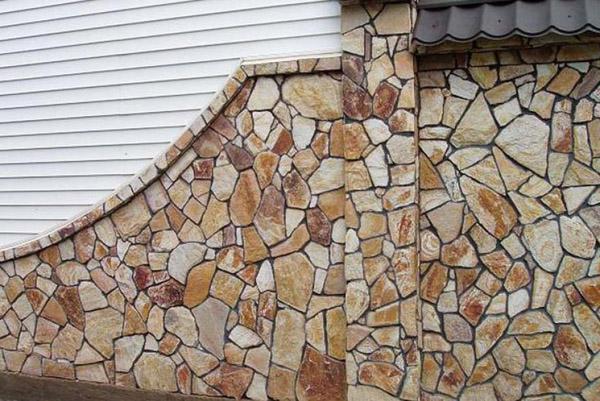 облицовка стен дома камнем фото