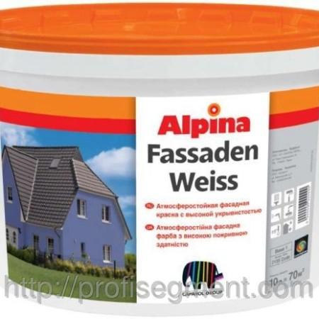 Alpina Fassadenweiss фасадная краска 10л