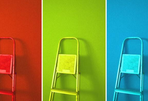 Покраска стен быстро и кардинально изменит вид помещения
