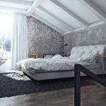 спальня в стиле лофт фото