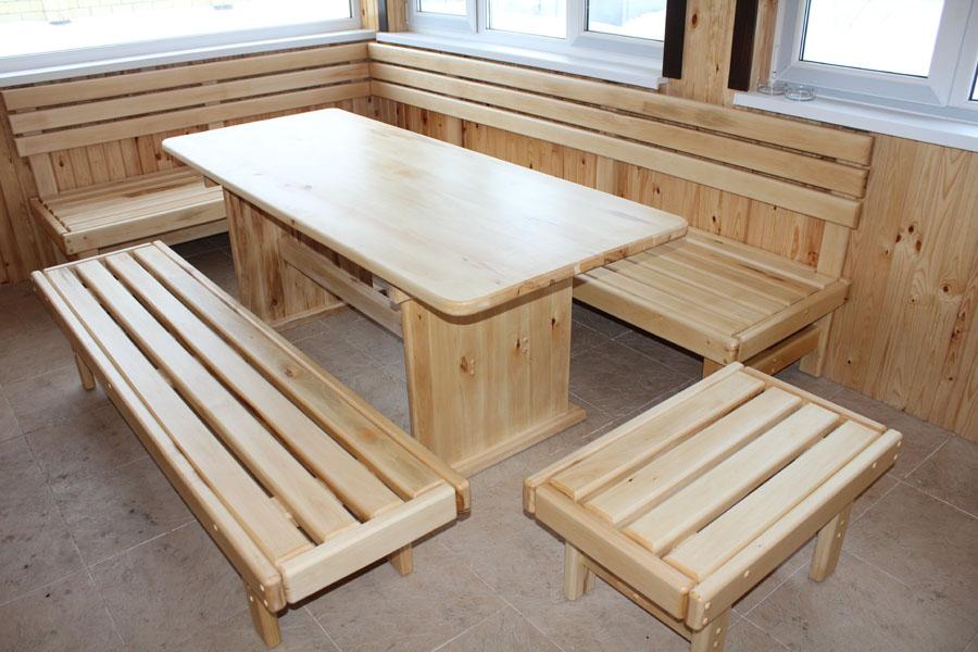 Мебель для бани из дерева своими руками